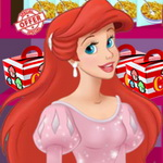 Ariel Cooking Wedding Cake